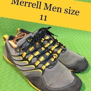 Merrell Trail Glove Smoke/ Yellow shoes size 11